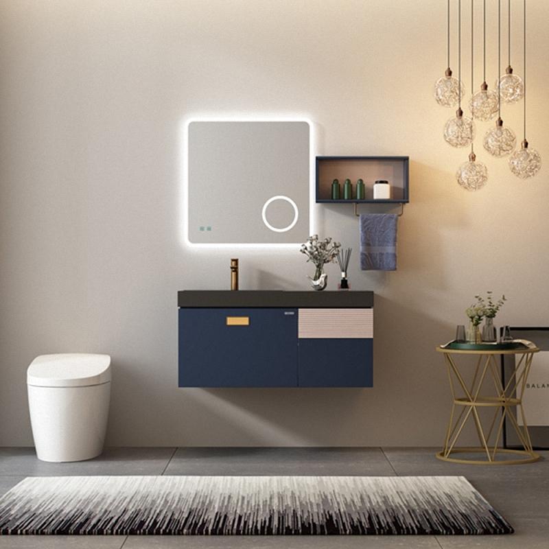 Bathroom vanity cabinet is made of solid wood plywood